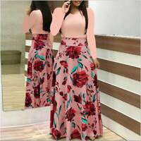 Long beach party Cocktail evening floral summer dresses maxi dress Womens