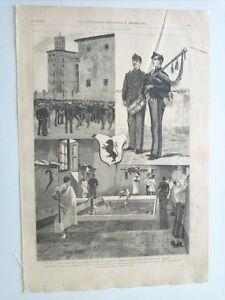 1885 Guarnicion ante el cólera Regimiento de Leon en el cuartel del Rosario