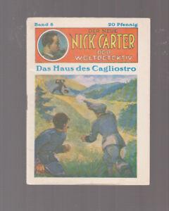 Der Neue Nick Carter Nr. 8 Originalheft 1929 Zustand (0-1/1)
