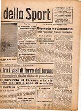 LA GAZZETTA DELLO SPORT DEL LUNEDI'  11  GENNAIO  1943    NR 9