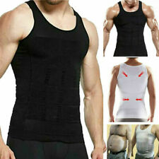 UK STOCK Mens Compression Slimming Body Shaper Gym Vest Abs Abdomen Slim Best