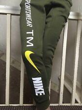 Nike TM Mens Joggers Size L Khaki Green