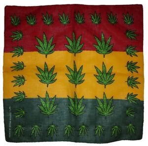 """Wholesale Lot of 3 Multiple Weed Leaf 100% Cotton 22""""x22"""" Bandana"""