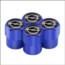 4 Ventilkappen Opel, Blau, Performance, Tuning, Ventile Autoreifen