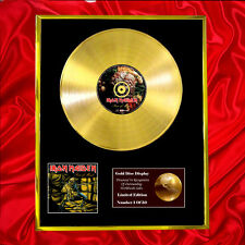 IRON MAIDEN PIECE OF MIND CD  GOLD DISC VINYL LP FREE SHIPPING TO U.K.