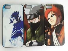 3 pcs apple iphone 5th, 5s hard case, naruto, sasuke, gaara, kakashi