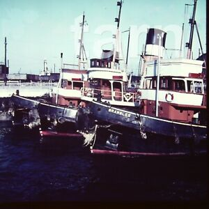 60 x 60 mm glass slide tug boat Brambles c1950s/60s r38
