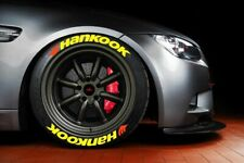 """Permanent Tire Letter Hankook Stickers YELLOW 1.25"""" 16'17'18'19'20  9 KİT"""