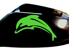 Dolphin Car Sticker Wing Mirror Styling Decals (Set of 2), Neon Green