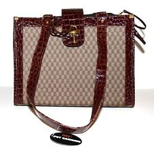 DX2 Brown Fabric Croc Faux Leather & Mesh & Faux Fur Lining Pet Carrier Tote NWT