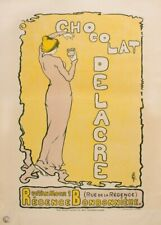 Chocolat Delacre, 1897, France, Vintage Grocery and Confectionery Poster
