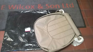 GENUINE ROVER HCA000860WCD BEIGE LEATHER SEAT CUSHION COVER ROVER 75 LEFT SIDE