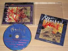 MORGOTH SIGNED CD - ODIUM / ORIGINAL AUTOGRAPHED in MINT-
