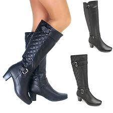 Knee High Boots Standard (B) Block Shoes for Women