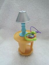 NEW! Fisher Price Loving Family Dollhouse SIDE TABLE with LAMP for Living Room