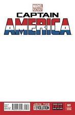CAPTAIN AMERICA #1 BLANK WHITE SKETCH VARIANT NM+ MARVEL NOW COMICS 2012