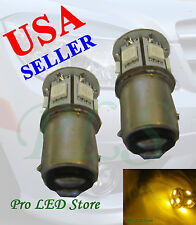 1157 1034 1154 Amber Yellow 9 SMD LED BAY15D Backup Turn Signal Dome Light Bulbs
