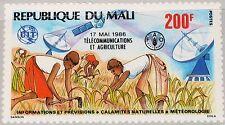 MALI 1986 1067 534 Telecommunication & Agriculture ITU Weltfernmeldetag MNH