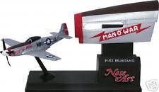 """CORGI WWII P-51 D Mustang """"Man O War  Nose Art P51 1945 P51d diecast model WW2"""