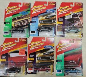 Johnny Lightning Classic Gold Cars, lot of 6, NIP (11A)