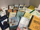 Lot of 10 RANDOM Assorted/Mixed/Regional Spiral Cookbooks, Vintage/Contemporary