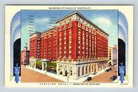 Grand Rapids MI, Pantlind Hotel, Bird's Eye View, Linen Michigan Postcard A100