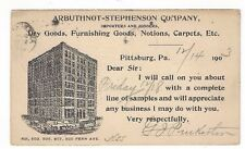 1903 UX18 Postal Card, Allegheny Pennsylvamia Building, Arbuthnot Stephenson Co