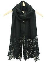 Fashion Women Lace Flower Scarf Hijab Shawl Long Ladies  Scarves Stole Wrap uk
