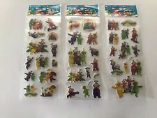 10 x TELLY TUBBIES Sticker strips for Party Bag Fillers Birthday, favours