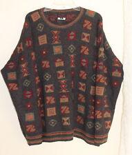 INTI -Sz XXL 100% Alpaca Deep Rich Plush Art-to-Wear Men's Crewneck Sweater