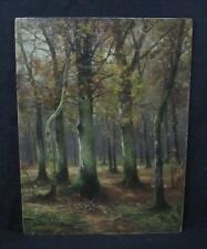 Antique Oil on Wood Panel Landscape Painting Signed Unverdross German 1907