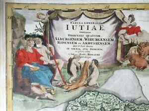 1720 Denmark Map Lutiae - Johann Baptist Homann - Art, Danmark Kort, Cartography