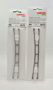 """LOT OF 2 MARKLIN HO SCALE 70172 CATENARY WIRE 172.5mm 6-13/16"""" 5 PIECES/EACH"""