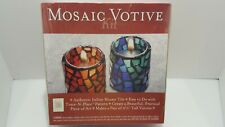 Italian Mosaic Votive Kit by Mosaic Mercantile New In Sealed Box