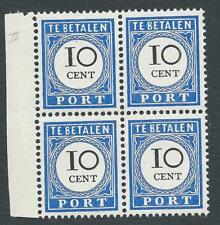 1894TG Nederland Portzegel P22 postfris,LUXE BLOK zeldzaam zie foto's!.