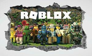 Roblox,Sticker,Kids,3d,Decal,Children's,Bedroom,Wall Art,Mural