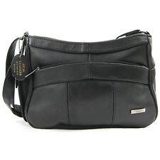 REAL LEATHER HAND BAG SHOULDER BAG SIDE MOBILE POCKET Tan/Browns/Cream/Blue 3743
