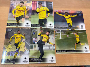 2021 Topps Stadium Club Chrome BVB 6 Cards Jude Erling Moukoko Reyna Sancho