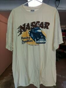 Tan/Light Beige NASCAR Racing Tradition Since 1948 XL T-Shirt