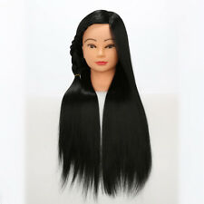 "28"" Synthetic Hair Mannequin Salon Model Hairdressing Practice Training Head #1"