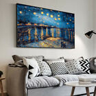 Art Painting Starry Night Over the Rhone Vincent Van Gogh CANVAS Home Decor