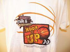 HERSHEY'S Basketball T-Shirt Large (2-Sided) 3 on 3 Milk Milkshakes NEW NWOT