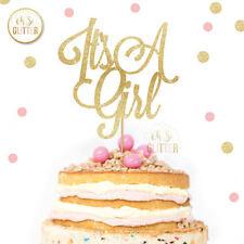 Su una chica Cake Topper, chica Cake Topper, brillo Topper, Baby Shower, bebé niña
