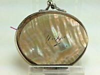 Antique French Mother of Pearl Hand Painted Dieppe  Coin Purse 1880's