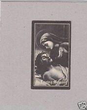 Vintage Catholic Holy Bible Prayer Card 1941 from The Franciscan Fathers In USA