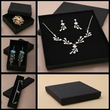 BLACK JEWELLERY GIFT BOX RING NECKLACE BRACELET EARRING WATCH SMALL PRESENT CASE