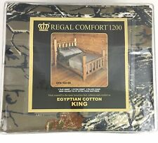 Regal Comfort Camo Camouflage King Sheet Set Brown Flat Fitted Pillowcases