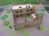 28mm Set I Double Adobe House & Compound Desert Africa Cowboy Scenery Buildings
