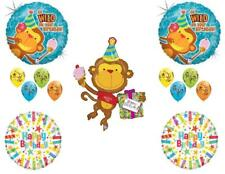 Monkey Go Wild Happy Birthday PARTY Balloons Decorations Supplies Candles
