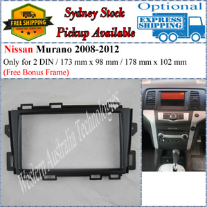 Fascia facia Fits Nissan Murano 2008-2012 Double Two 2 DIN Dash Kit